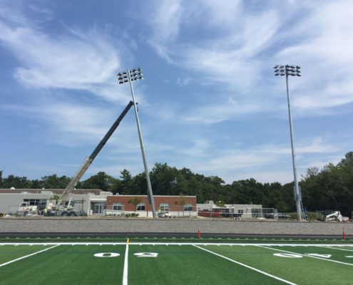 outdoor lighting elctrical installation athletic field