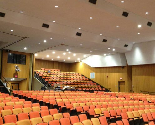 Electrical-lighting-project-school-auditorium