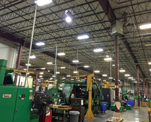 Manufacturing plant wiring